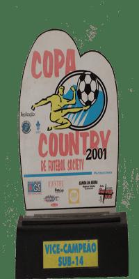 COPA COUNTRY DE FUTEBOL SOCIETY 2001 VICE CAMPEÃO SUB 14