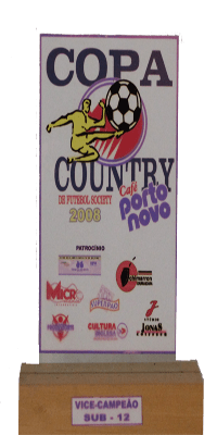 COPA COUNTRY DE FUTEBOL SOCIETY 2008 VICE CAMPEÃO SUB 12