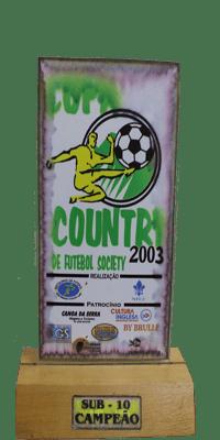 COPA COUNTRY DE FUTEBOL SOCIETY- CAMPEÃO- SUB 10