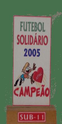 FUTEBOL SOLIDPARIO 2005 CAMPEÃO