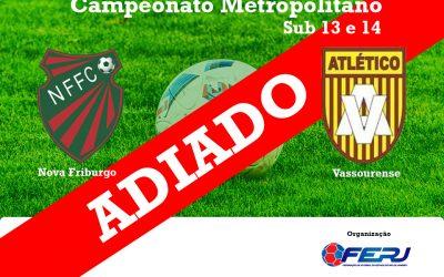 ADIADA: Partida entre Nova Friburgo e Vassourense não acontece neste sábado  A competição é organizada pela Federação de Futebol do Estado do Rio de Janeiro
