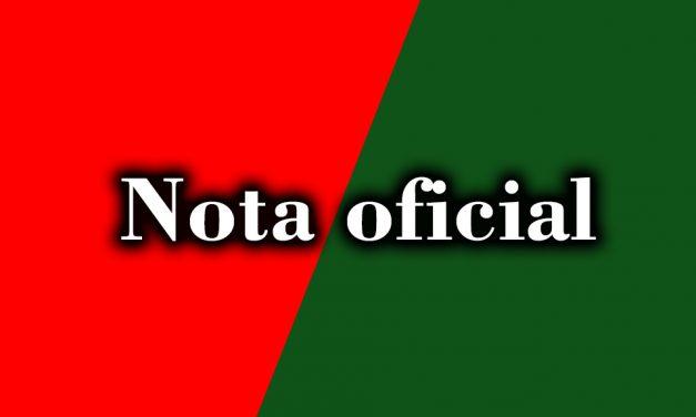 NOTA OFICIAL: Suspensão das atividades do Departamento de Futebol