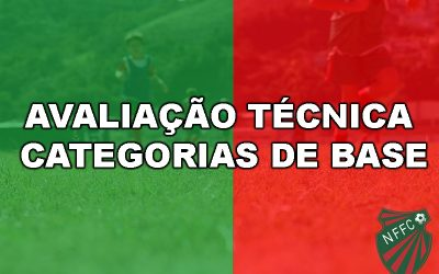 Departamento de Futebol realiza avalição técnica para as categorias de base  Testes acontecem nos sábados (15 e 22 de fevereiro), das 8h às 12h, no Centro de Treinamento em Conselheiro Paulino