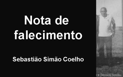 Nota de pesar: Sebastião Simão Coelho