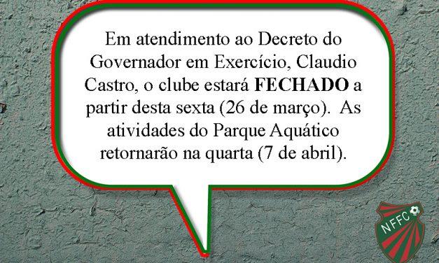 SOCIAL: Parque Aquático estará fechado até o início de abril